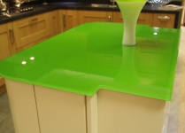 Green-Glass kitchen work-top
