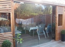 Sliding doors to a garden room
